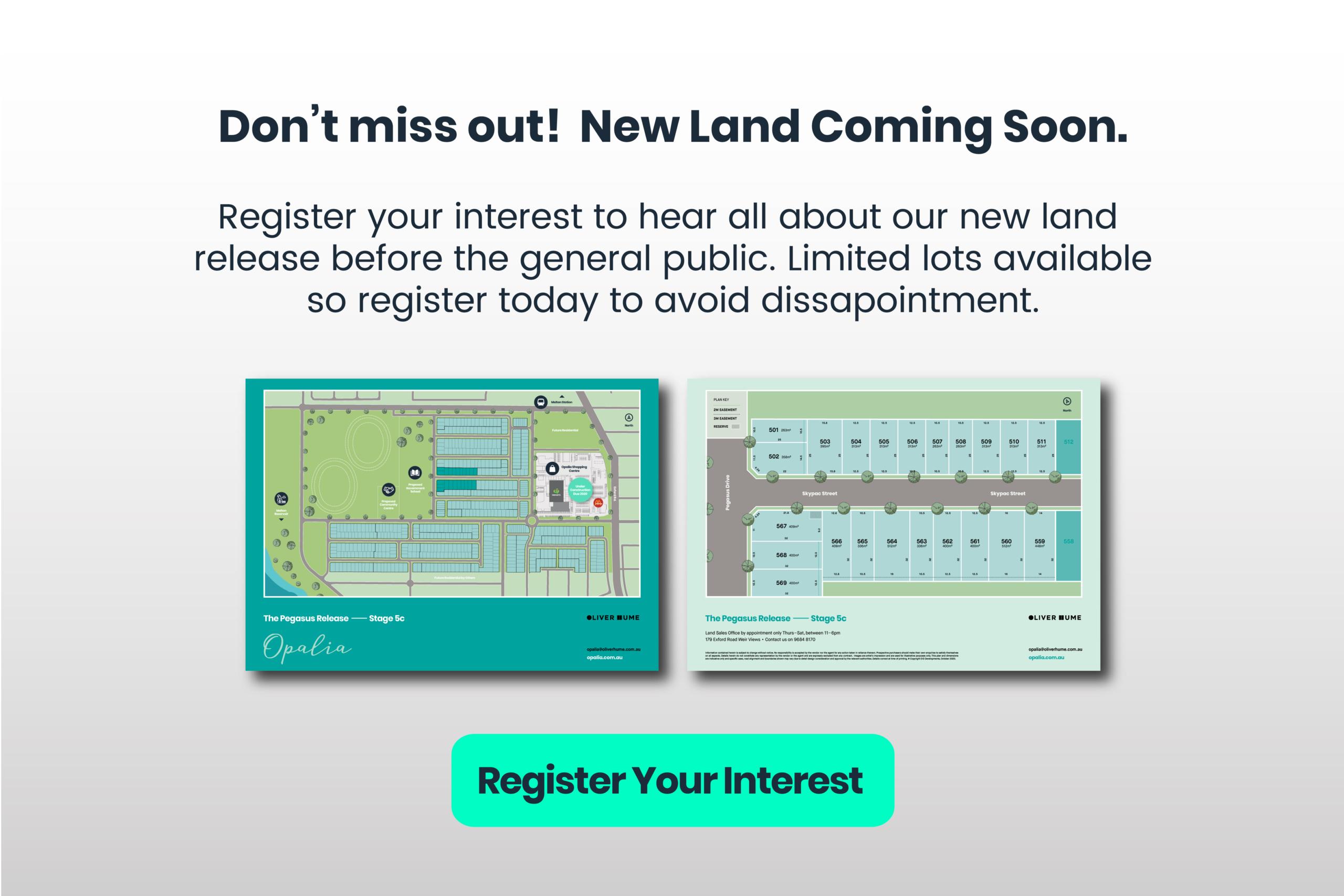 Register for New Land